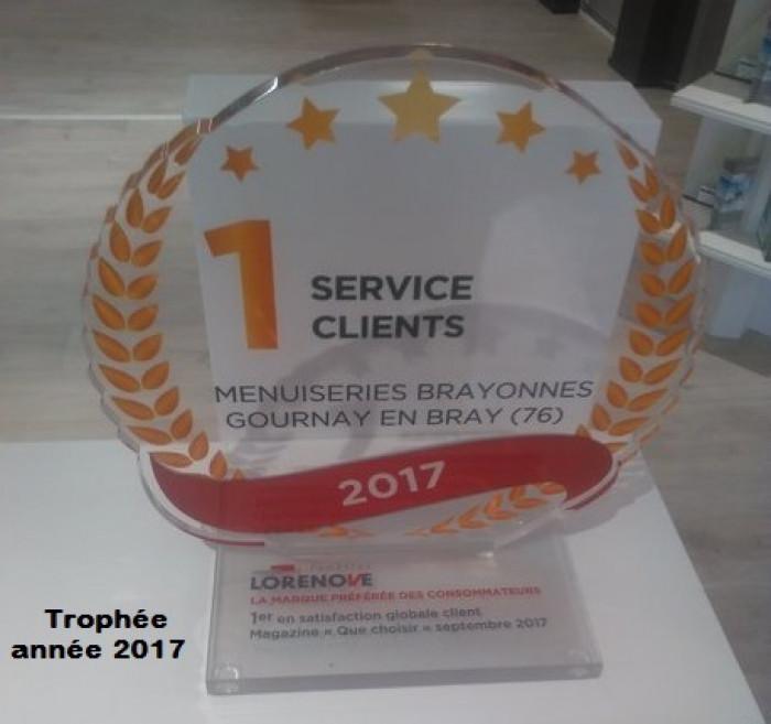 LES MENUISERIES BRAYONNES - Trophée du Meilleur Service Client