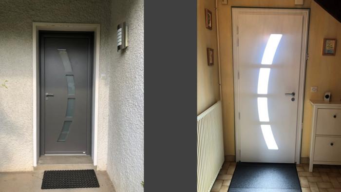 Porte d'entrée contemporaine lorenove Gargenville