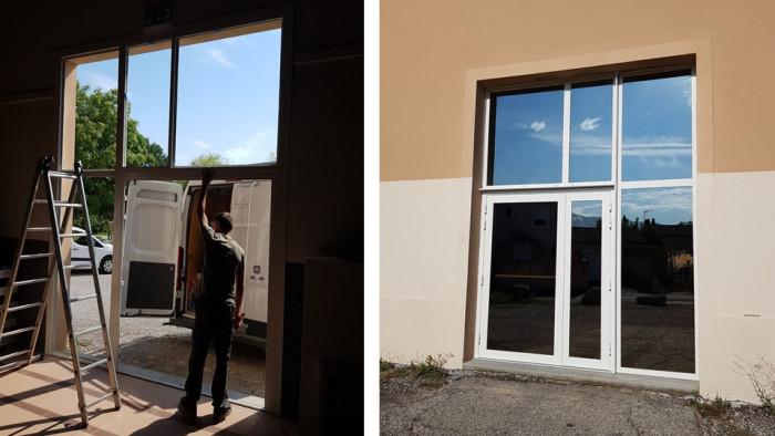 Pose de fenêtre aluminium par AZUR WINDOW Lorenove à Trets