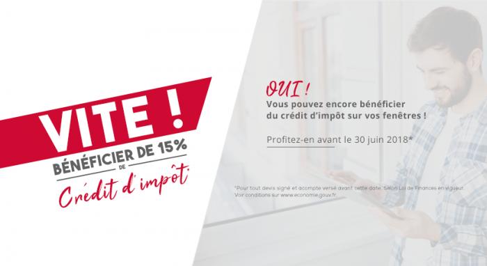 Bénéficiez de 15 % de crédit d'impôt sur l'achat de vos fenêtres Lorenove !