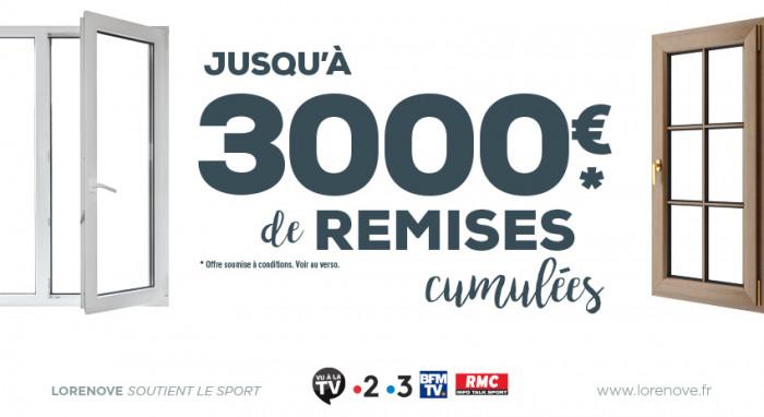 Promo : jusqu'à 3000€ de remises sur vos menuiseries chez Lorenove Caen