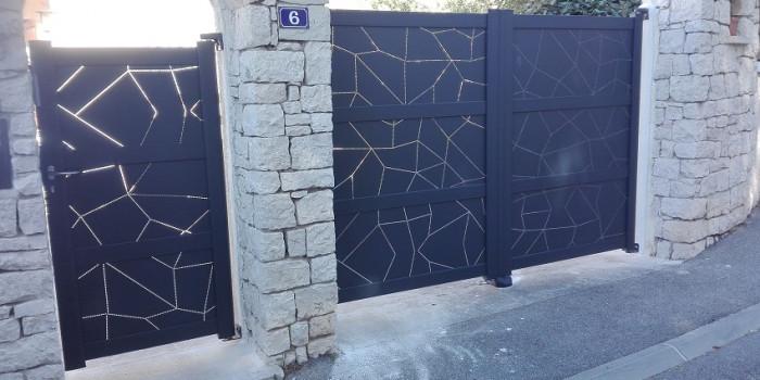 Pose d'un portail en Aluminium - Sausset-les-Pins