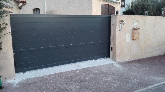 Pose d'un portail motorisé à Martigues