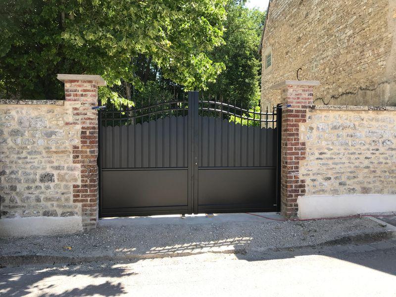 Pose de portail et portillon Aluminium à Troy...
